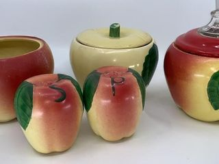 Apple canisters   salt and pepper shakers
