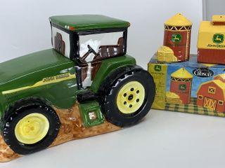 Gibson John Deere tractor cookie jar