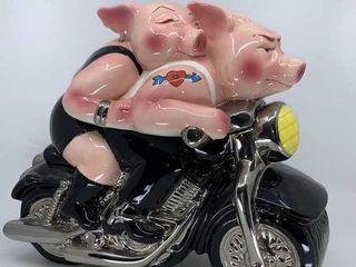 Biker Hogs cookie jar
