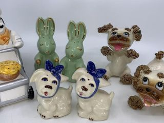 3 sets of salt and pepper shakers