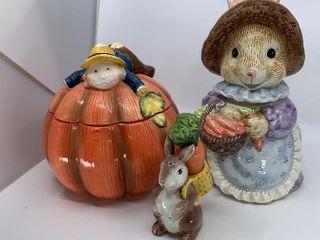 OCI bunny cookie jar and