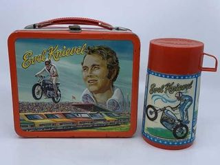 1974 Evel Knievel lunchbox   thermos