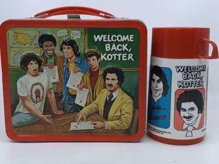 1977 Welcome Back Kotter lunchbox   thermos