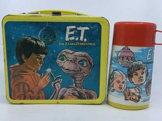 1982 E T  The Extra Terrestrial lunchbox   thermos