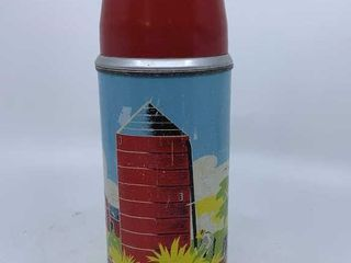 1958 Red Barn thermos