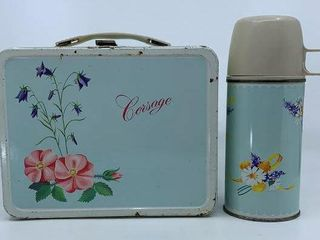 1964 Corsage lunch box   thermos