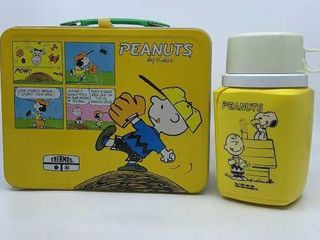 1985 Peanuts lunchbox   thermos