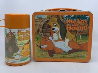 1981 Fox and the Hound lunchbox   thermos