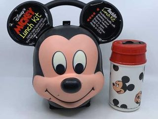 Plastic Mickey Mouse lunch Kit   thermos