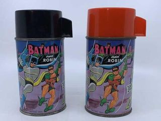 2   1966 Batman and Robin thermoses