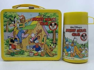 Vintage Mickey Mouse Club lunchbox   thermos