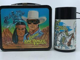 1980 legend of the lone Ranger lunchbox   thermos