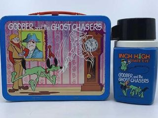 1974 Goober   the Ghost Chasers lunchbox   thermos