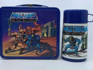 1983 Masters of the Universe lunchbox   thermos