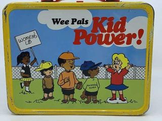 1973 Wee Pals Kid Power lunchbox