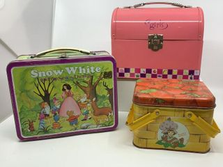 3   Metal lunchboxes