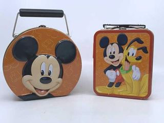2   Mickey Mouse tins