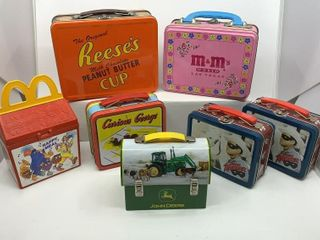 7  Assorted Tin boxes