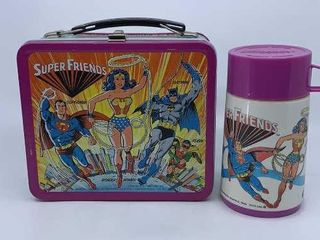 1976 DC Comics Super Friends lunchbox   thermos