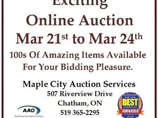 Exciting Online Auction Starts March 21 at 4pm