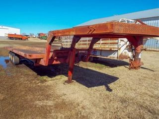 28 X8  Flatbed gooseneck trailer with winch