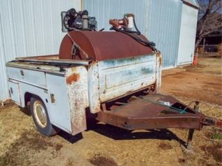 80 X73 Pickup utility bed on trailer