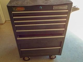 Masterhand tool box on wheels  8 drawers