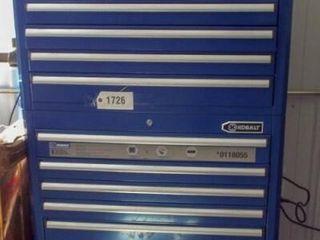 Kobart standup chest type tool box  Pioneer stereo