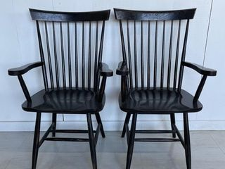 Pair of Fine Windsor Oak Arm Chairs