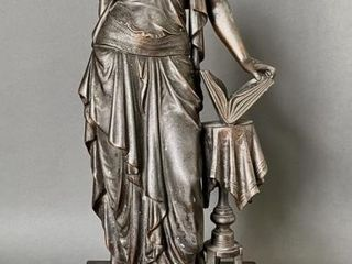 Fine Bronze Sculpture of Young Women with Book