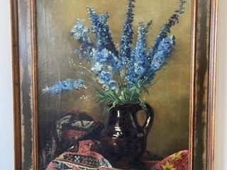 Stunning Early Still life Oil on Canvas Obscure
