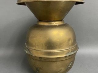 Early large Brass Spittoon 11   English Tavern