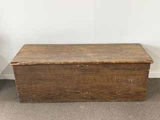 Grained Paint Pine Blanket Box Circa 1940 50