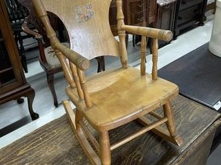 Small Childs Maple Stenciled Rocker
