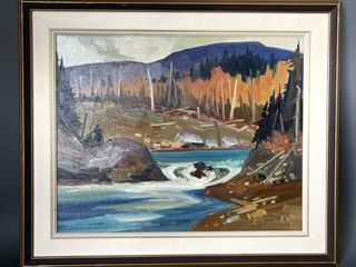louis Tremblay  1949  Quebec Autumn Oil On Board