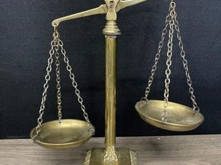 Solid Brass Druggists Balance Scale