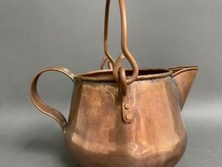 Older Copper Handled Pouring Pot Small