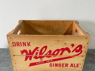 Wilson Ginger Ale Box Crate