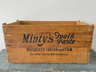 Minty s Tooth Paste Advertising Shipping Box