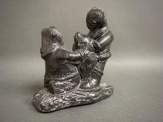 Wolf Sculptures Inuit Carving