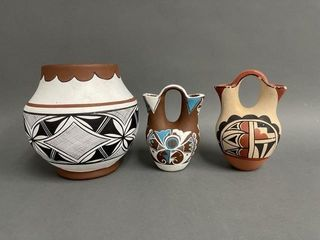 Grouping of Mexican Pottery Vestals and Pot