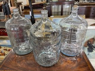 3  5 Gallon Wine Carboys in Good Condition Clean
