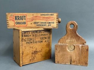 Primitive Canadian Treenware Collectables