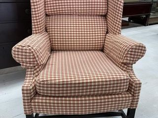 Upscale Upholstered Wing Back Chair