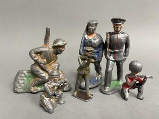 Rare Hand Painted Cast Soldiers