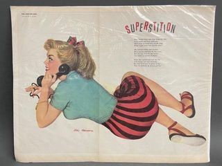 Superstition Al Moore Pin up Girl Foldout