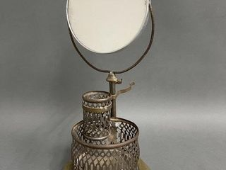Unusual Bracketed Mirrored Candle Holder