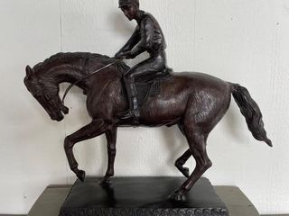 large Bronze Horse and Rider Statue