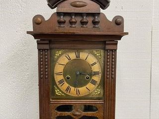 19th Century Wooden Mantle Clock