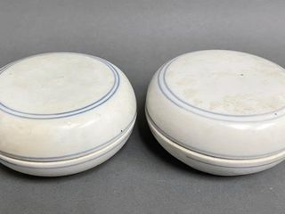 Chinese Ming  1368  1644  lidded Ceramic Bowls